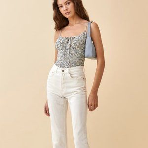 New Reformation Carine Top Pixie
